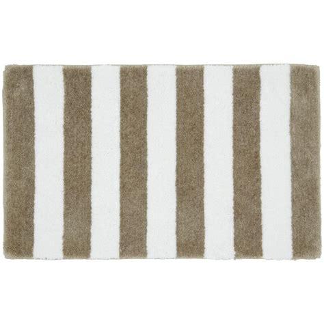 stripe bath rug garland rug stripe white 21 in x 34 in bath rug ba300w021034u1 the home depot