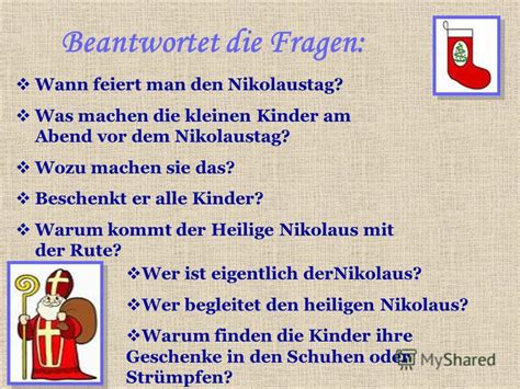 wann ist nikolaustag презентация на тему quot методическая разработка по немецкому