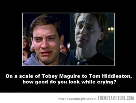 Tobey Maguire Face Meme - how do you look while crying the meta picture