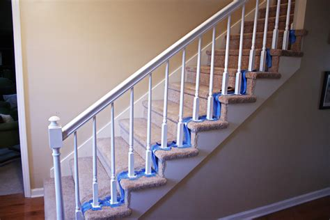 best paint for stair banisters painting handrails how to paint stairway railings bower