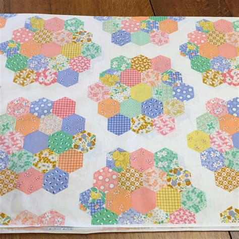printable quilt fabric 3 yards cheater print cotton quilt fabric hexagon blocks vip