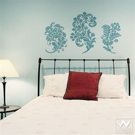 bedroom wall decal wall decals damask wall decals by paisley wall decals paisley swirls flowers vinyl wall