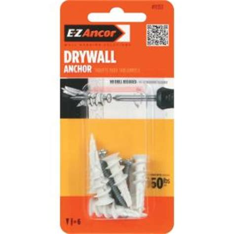 e z ancor twist n lock 50 lb self drilling drywall