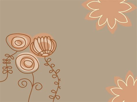Brown Flowers Powerpoint Templates Brown Flowers Free Drawing Colorful Flower Backgrounds For Powerpoint Templates