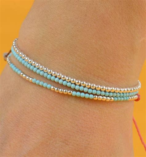 Pretty Anklets by Simple And Pretty Turquoise And Silver Bracelet