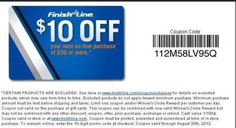 Finish Line In Store Coupons Printable