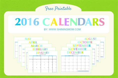 free printable planning calendar 2016 2016 free printable calendars crafting in the rain
