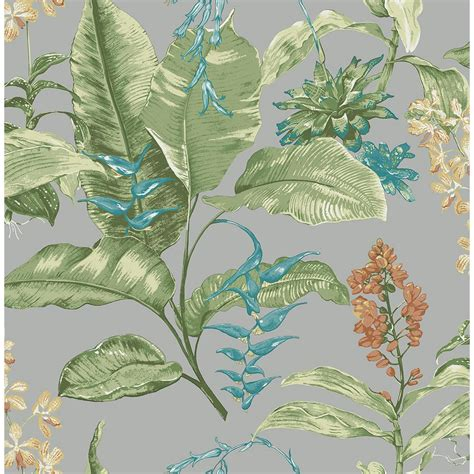 botanical print wallpaper kenneth james maui grey botanical wallpaper ps41808 the