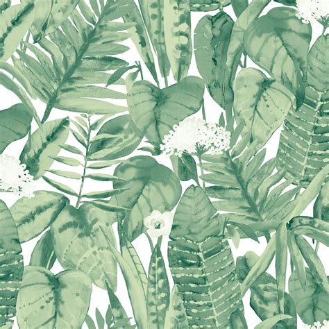 Table Pads For Dining Room Tables Muted Jungle Removable Wallpaper Jungle Green