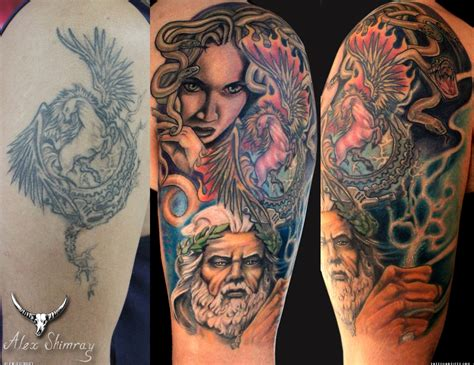 theme tattoo medusa zeus theme artists org