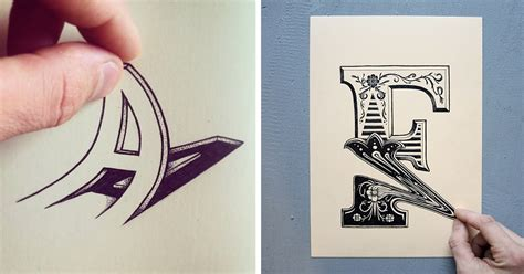 M Drawing Design by Artist Draws Letters That You Can Squeeze Pull And Bend