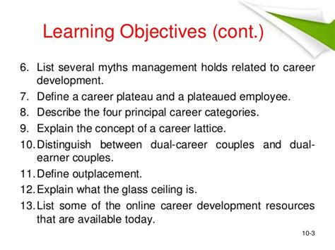 objectives for career development career development objectives exles zoro blaszczak co
