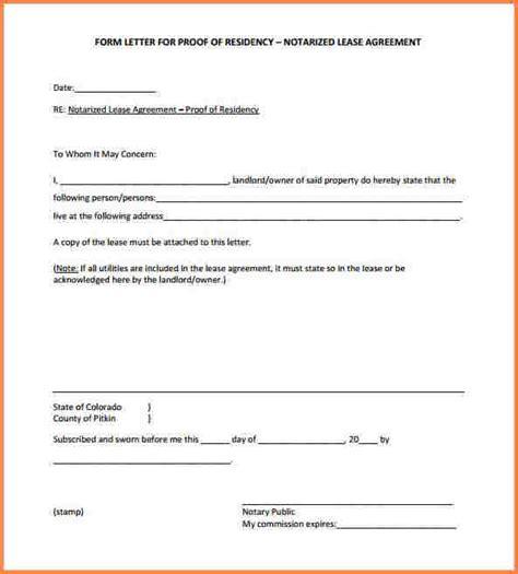 Demand Letter Notarized 5 Notarized Letter Of Residency Adjustment Letter