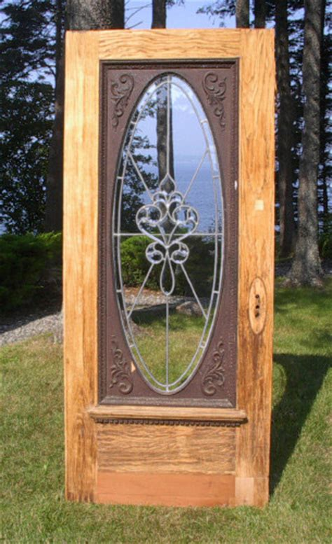 36 X 83 Entry Door by Architectural Antiquities 70 Oak 90 Leaded Glass