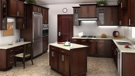 mocha kitchen cabinets mocha shaker kitchen cabinets