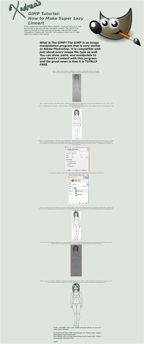 gimp lineart coloring tutorial gimp tutorial lazy lineart by xadrea on deviantart