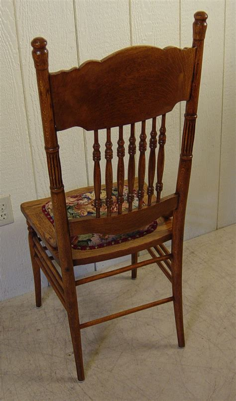 Press Back Chair by Set Of 4 Oak Press Back Chairs