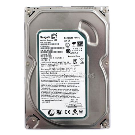 Hardisk 35 320gb Seagate stuart connections inc