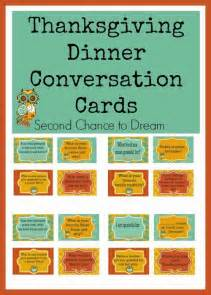 thanksgiving dinner conversation cards second chance to