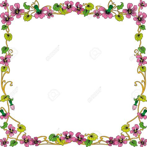cornici gratis historical frame in color with floral ornaments in square