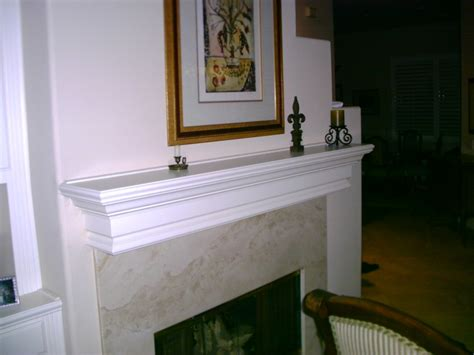 White Wood Fireplace Mantel by Fireplace Mantels