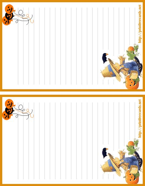 printable halloween stationery paper free halloween stationary letterhead 2