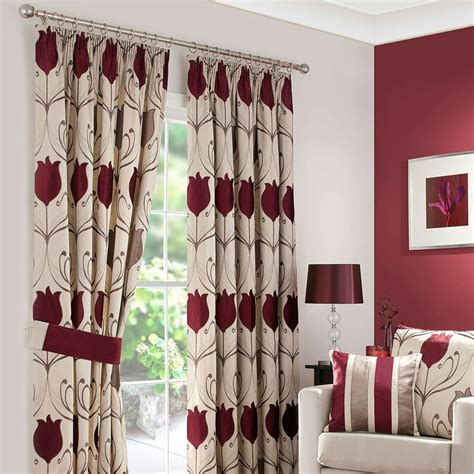 wine coloured eyelet curtains 17 best ideas about cream pencil pleat curtains on