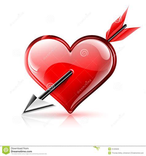 imagenes de corazones con flechas coraz 243 n y flecha imagen de archivo libre de regal 237 as