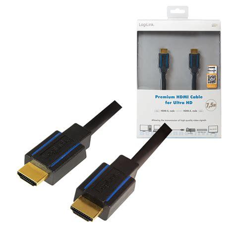 Kabel Hdmi Namichi 15m Nc 007 logilink produkt premium hdmi kabel f 252 r ultra hd 7 5m 25 04 2018