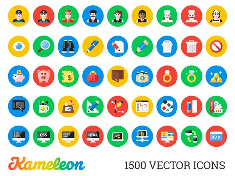 material design icon vector kameleon 1500 flat icons designer pack materialup