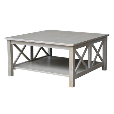 grey square coffee table weathered gray coffee table
