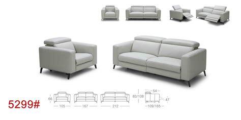 roslyn recliner divani casa roslyn modern white leather sofa set w
