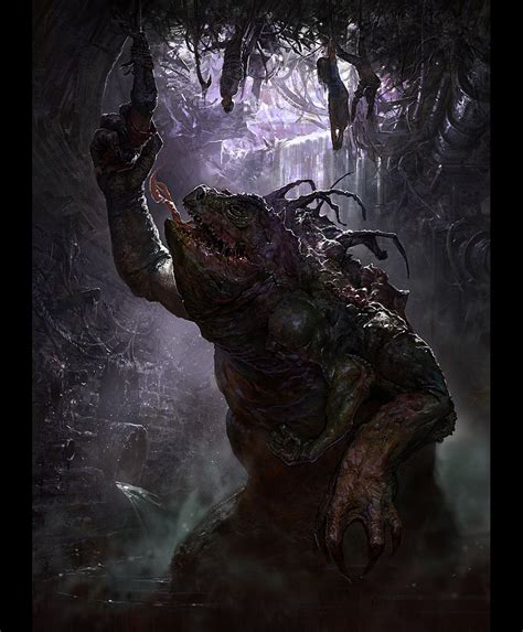 true stories of macabre monstrous creatures monstrous monsters books character design sewer dwelling 2d digital