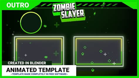 blender outro templates blender professional 2d outro template for youtubers