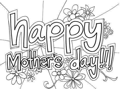 mothers day coloring pages in spanish free large images