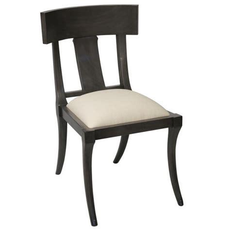 klismos dining chair klismos chair dining chair ebony dusk gray