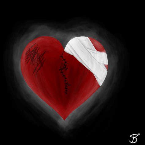 Broken Heart3 dongetrabi black and broken images