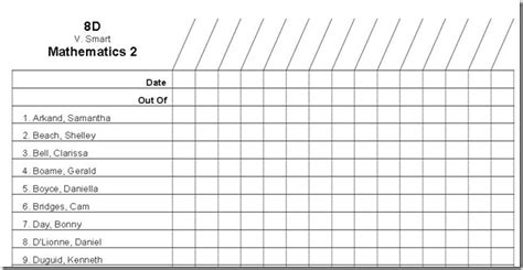 student list template 7 reasons to use markbook software to keep track of your