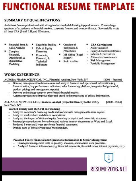 functional resume format exles functional resume template 2017 learnhowtoloseweight net