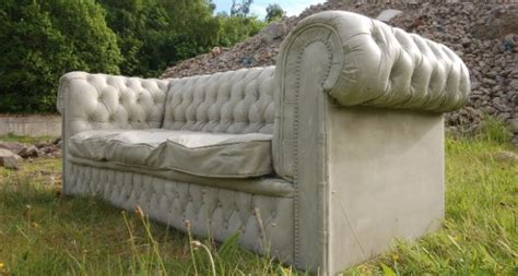 concrete sofa sofa surprise this comfy looking seat is actually made of