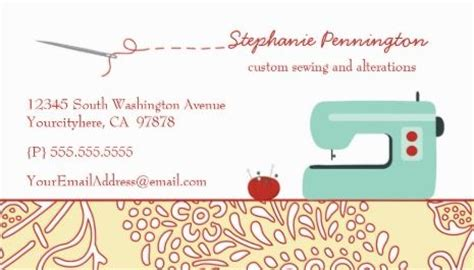 free seamstress business card templates girly seamstress and fashion clothier business cards