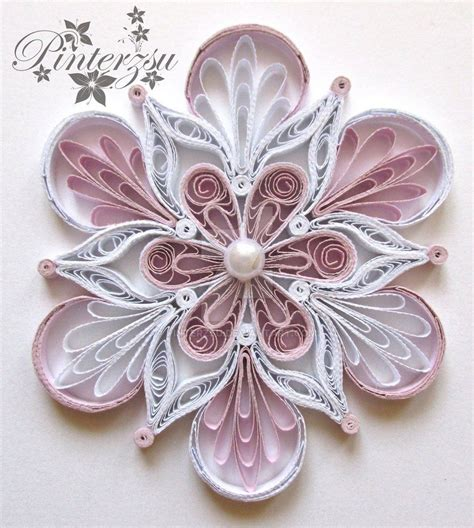 paper quilling templates quilled snowflake by pinterzsu on deviantart quilling