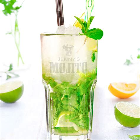 personalised mojito glass buy from prezzybox com