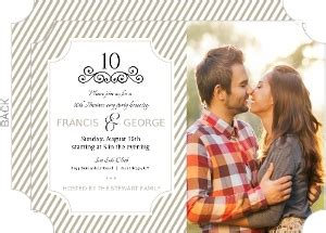 10th wedding anniversary invitation wording cheap 10th anniversary invitations invite shop