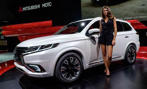 mitsubishi new cars mitsubishi outlander phev concept s bows lancer evo dies