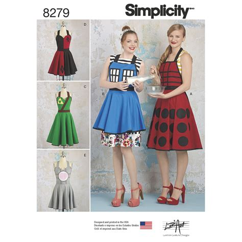 t shirt dress pattern simplicity simplicity simplicity pattern 8279 misses aprons from