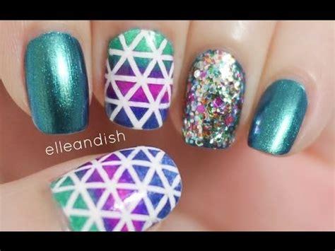 easy nail art using stripers geometric nails choose striping tape or nail striper