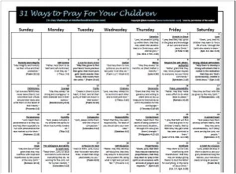 day challenge ways pray children