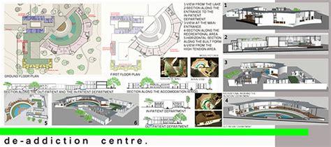 Project Detox Centre by De Addiction Centre Architectural Thesis On Behance