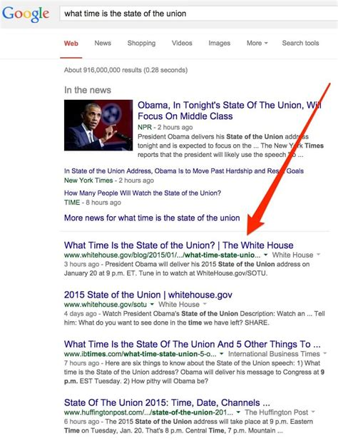 can you call the white house what time is the state of the union white house uses seo to spread the word